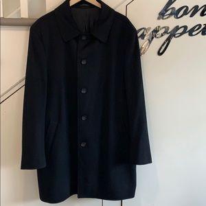 Italian WOOL coat  BLACK 48R NWOT